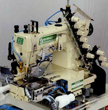 Multineedle Machines Yamato Export Yamato Industrial Sewing Machines Cool 4 Needle Elastic Sewing Machine